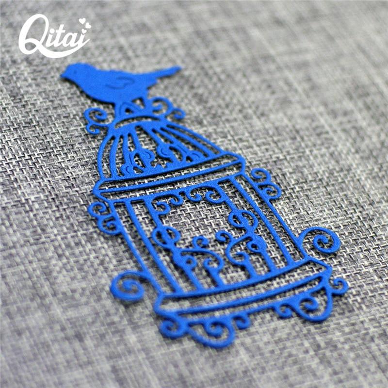 QITAI Πουλί Birdcage Shape Metal κοπής μοντέλο - Τέχνες, βιοτεχνίες και ράψιμο - Φωτογραφία 4