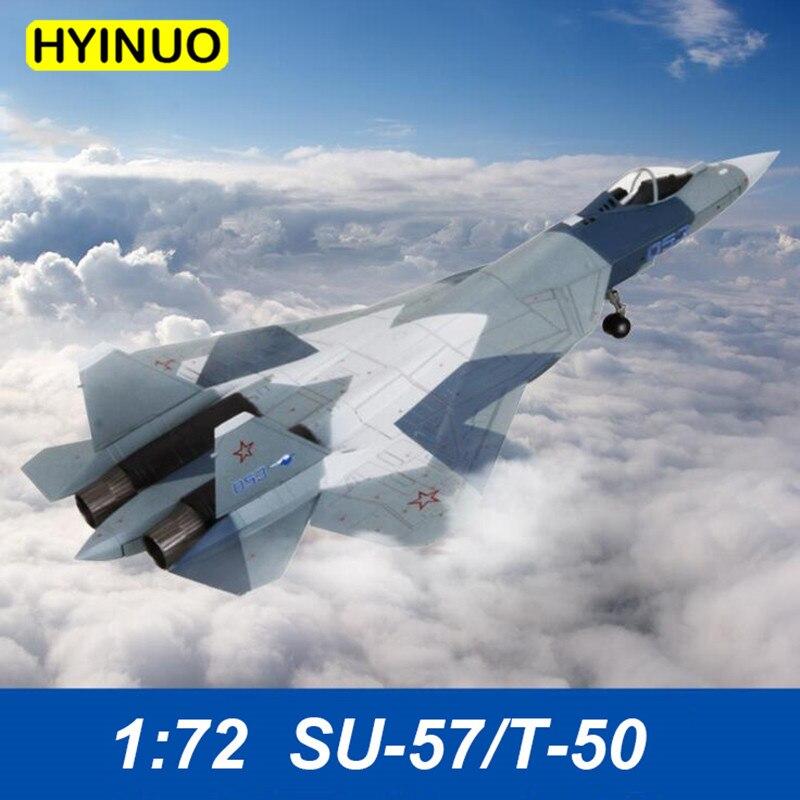 1: 72 Su-57/T-50 alliage quatrième génération avion de chasse russe Simulation statique modèle avion jouet statique modèle MEMORIAL