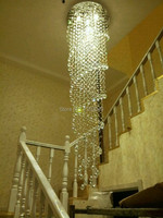 crystal pendant light crystal lustres lamp double spirals lamp home decoration fixture lighting with GU10 Bulbs