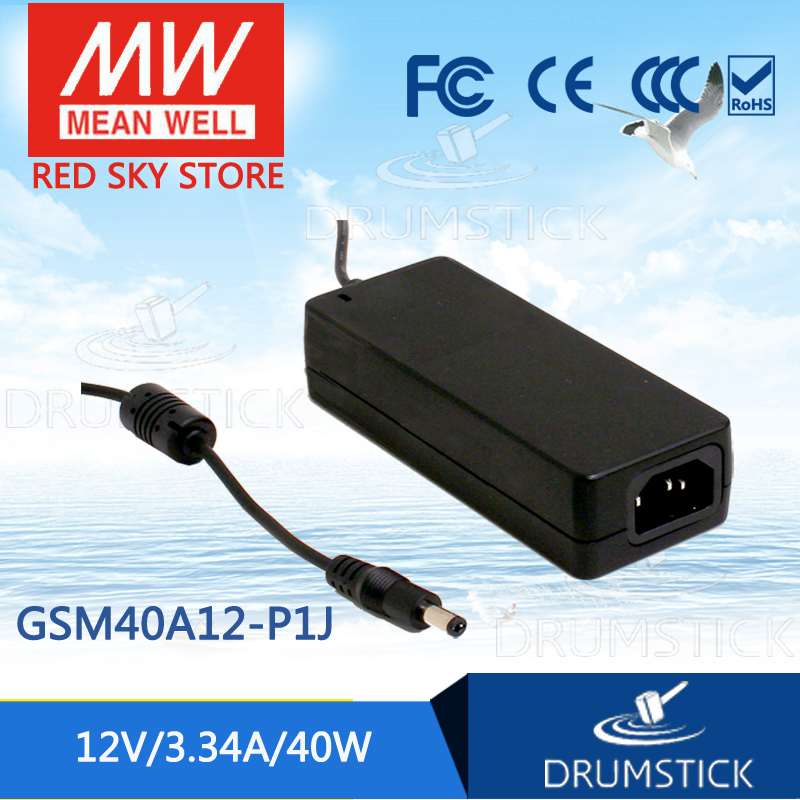 Selling Hot MEAN WELL GSM40A12-P1J 12V 3.34A meanwell GSM40A 12V 40W AC-DC High Reliability Medical Adaptor genuine mean well gsm60b12 p1j 12v 5a meanwell gsm60b 12v 60w ac dc high reliability medical adaptor