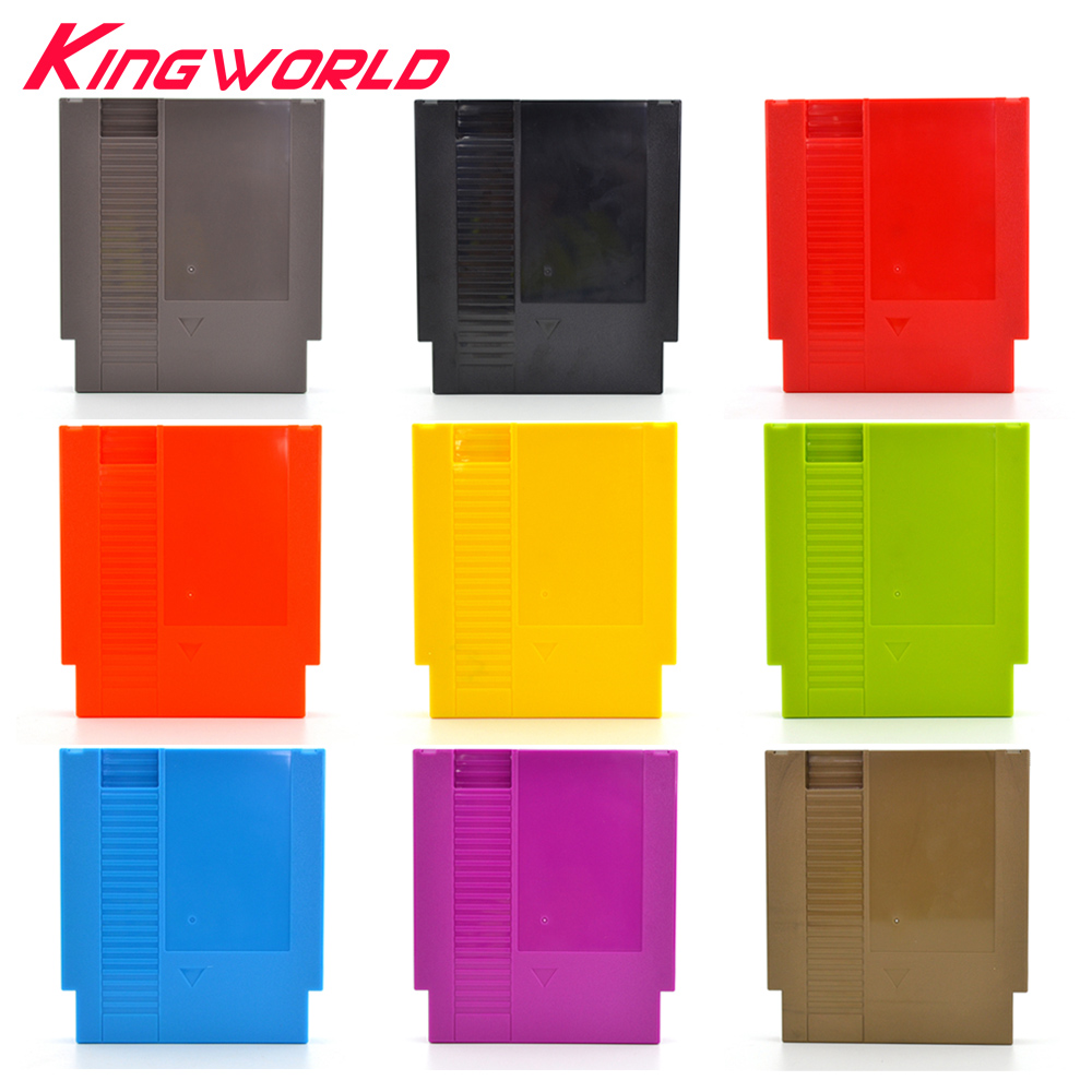 10pcs 72 Pin Game Card Shell Game Cartridge Replacement Shell for NES Cover Plastic Case with