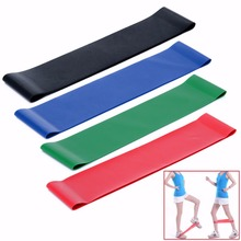 4 Size Elastic Resistance Bands Available Latex Gym Strength Leg Training Rubber Bands Fitness Yoga Equipment Workout Exercise(China)