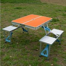 Przenośne Stoły ze stopu Aluminium Na Zewnątrz camping plaża składane stoły i krzesła tanie tanio Na zewnątrz tabeli Meble ogrodowe Samowystarczalny Minimalistyczny nowoczesny Nowoczesne NoEnName_Null 135*67cm*67cm Metal