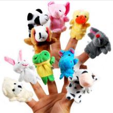 10pcs Cartoon Animal Velvet Finger Puppet Finger Toy Finger Doll Baby Cloth Educational Hand Toy Story