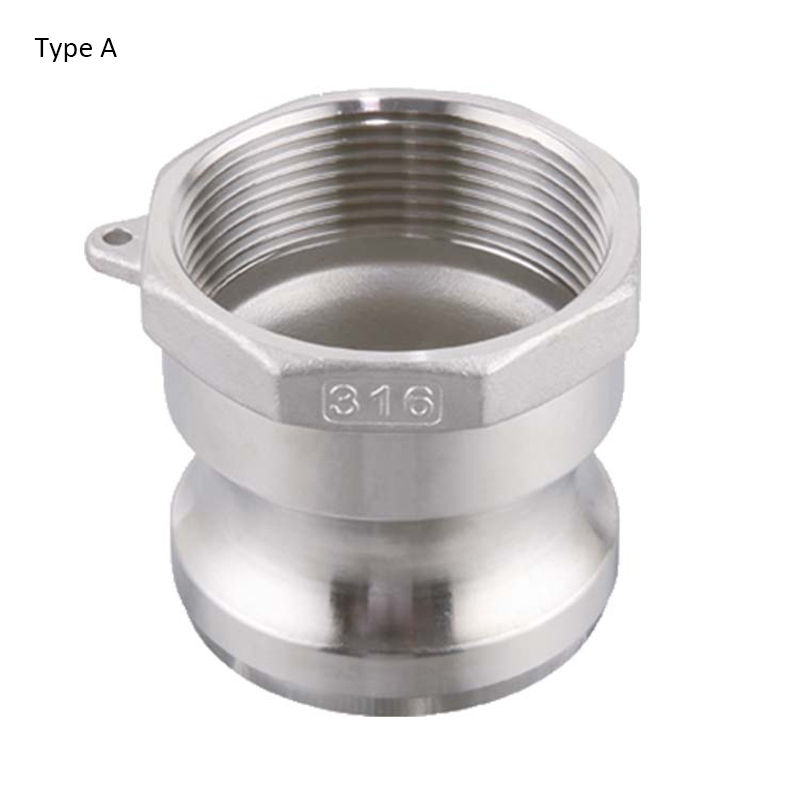 """Type A 1/2"""" 3/4"""" 1"""" Stainless Steel 304 Camlock Coupling,Cam& Groove Quick Connector Coupling Fitting"""