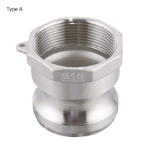 Type A 1/2 3/4 1  Stainless Steel 304 Camlock Coupling,Cam& Groove Quick Connector Coupling Fitting