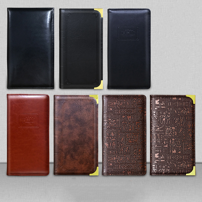 PU Leather Restaurant Bill Holder, Waiter Wallet, Magnetic Clip Check Book Cashier Folder