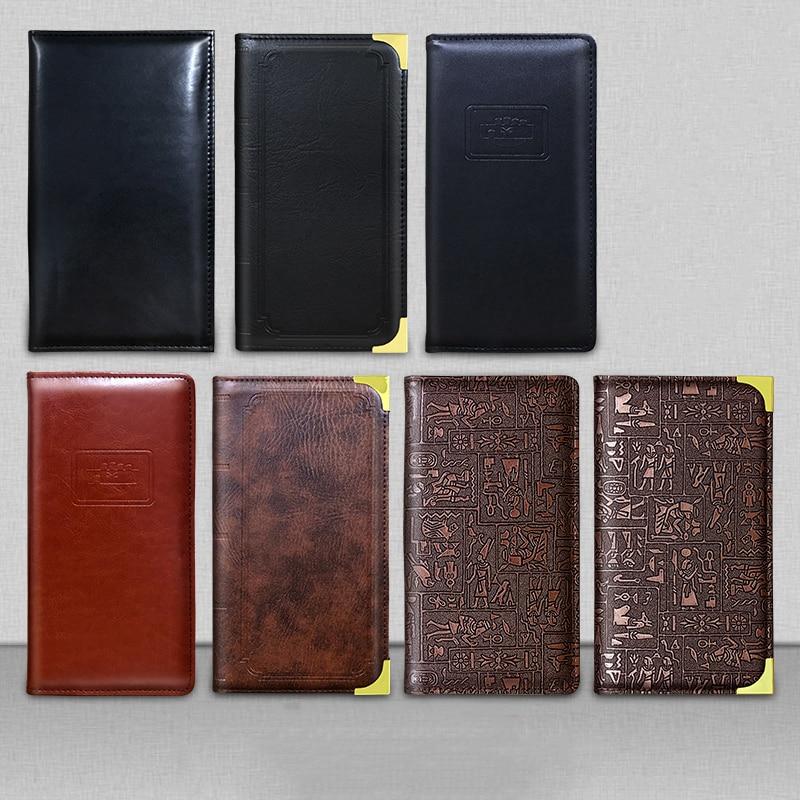 PU Leather Restaurant Bill Holder, Waiter Wallet, Magnetic Clip Check Book Cashier Folder
