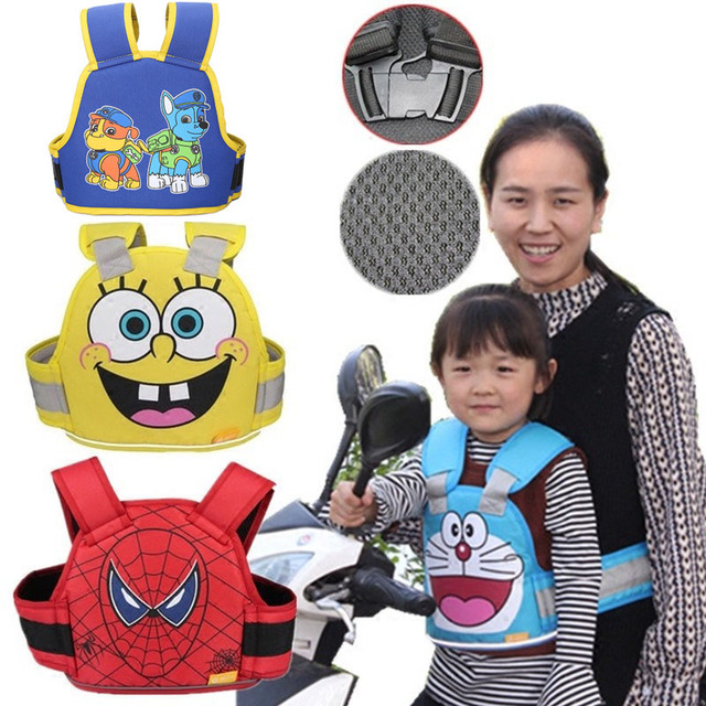 Children Motorcycle Safety Vest Adjustable Scooter Car Child Safety Protection Strap Anti-Falling Kids Bicycle Safety Harness