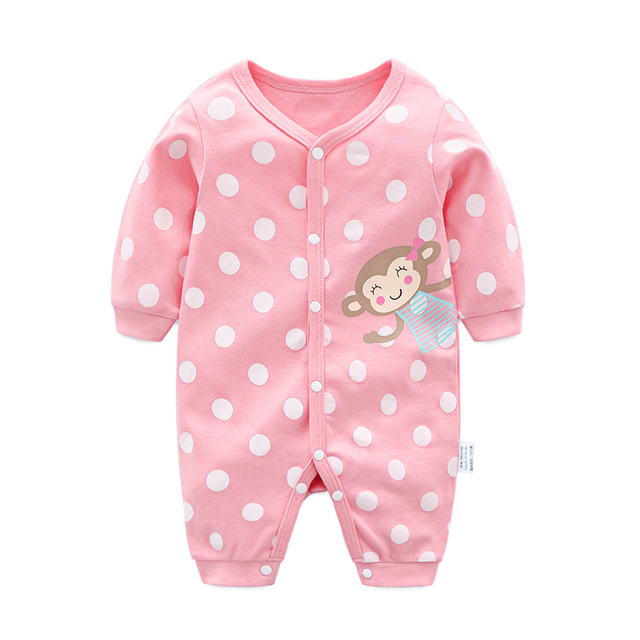 cfdcdfdf20bb Baby Girl Rompers 2019 Spring Full Sleeve Cotton Infant Jumpsuits Cartoon  Colorful Toddler Romper Outfits Newborn Boys Clothes