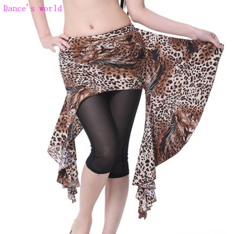 Wholesale Dance Skirt Sexy Leopard Belly Dance Clothes Women Belly Dance Hip Scarf
