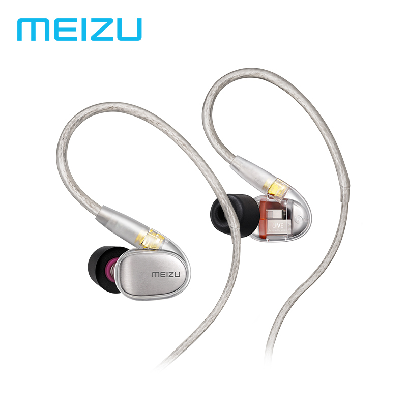 Original Meizu Live Earphones Quad Driver Knowles Balance Armature HiFi Wired Earphone In Ear Earbuds 3