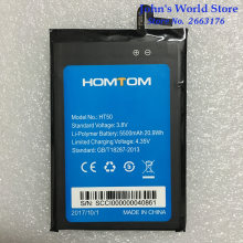100% Original HOMTOM HT50 Battery Replacement 5.5inch 5500mAh Backup Batteries Replacement For HOMTOM HT50 Smart Phone(China)
