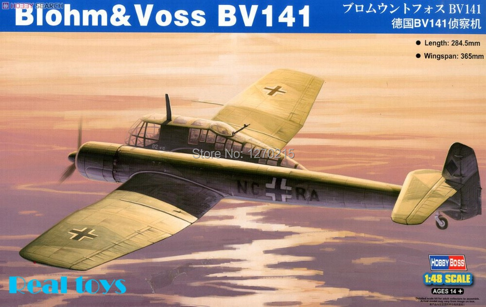 Hobby Boss MODEL 1/48 SCALE Assembled military models #81728 Blohm&Voss BV-141 plastic model kit bronco model 1 35 scale military models cb35020 german land wasser schlepper lws limited edition plastic model kit