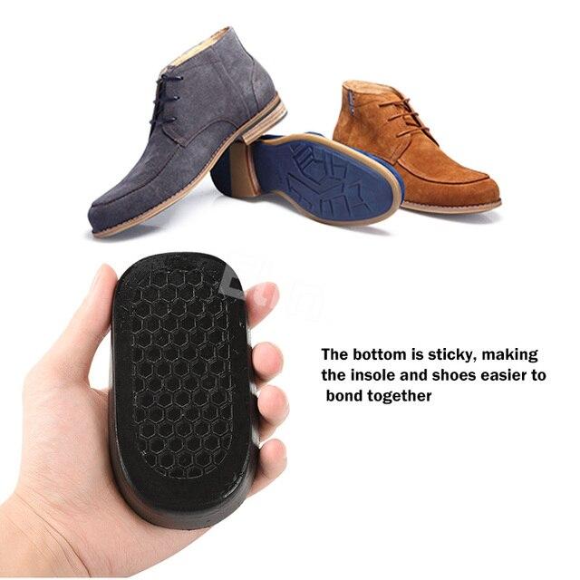 Elino Silicone Gel haute augmentation semelles demi coussinets pour hommes femmes respirant maille talon éperon pieds tasse coussin coussin 1.5-3.5 cm