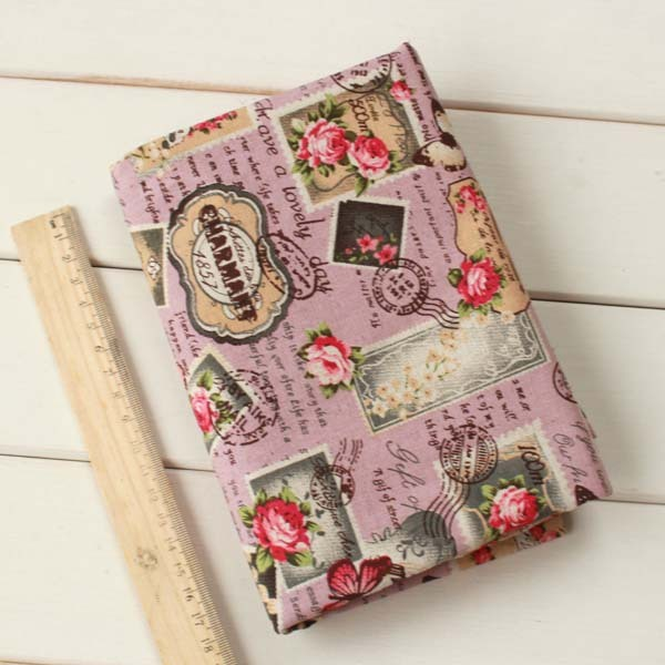 vintage apparel sewing print material fabrics for patchwork cotton knit fabric textiles cotton linen fabric meter cloth tissu 1