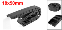UXCELL Newest R38 18x50mm 102cm/ 40 Length Nylon Drag Chain Cable Wire Carrier Black Transmission Chains