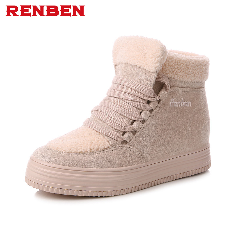 Women Winter Boots Suede Warm Platform Snow Ankle Boots Women Casual Shoes Round Toe Sneakers Female Botas Mujer