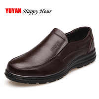 Echtes Leder Schuhe Männer Marke Schuhe rutschfeste Dicke Sohle Mode Für Männer Casual Schuhe Männlichen Qualitätsrindleder faulenzer K059