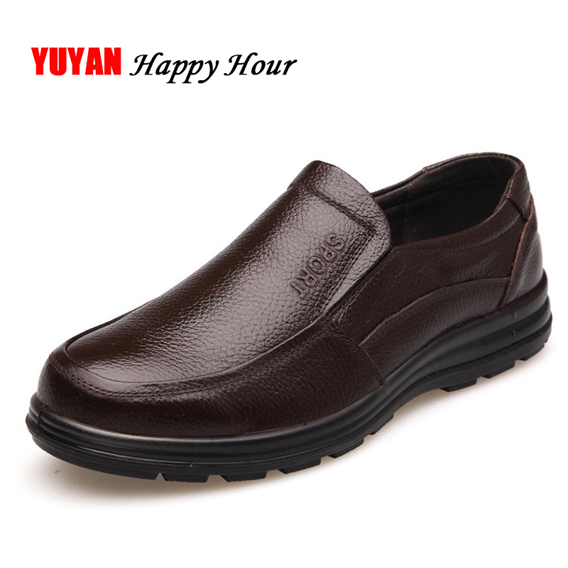 Real Leather-based Sneakers Males Model Footwear Non-Slip Thick Sole Vogue Males's Informal Sneakers Male Excessive High quality Cowhide Loafers Okay059