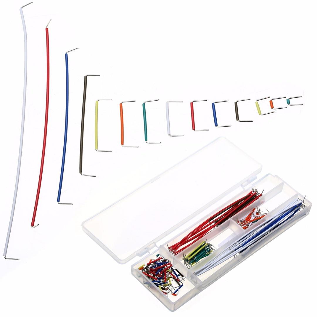 140 шт., 22 AWG, набор проводов, набор кабелей, без клея, макетная плата, Комплект перемычек с коробкой
