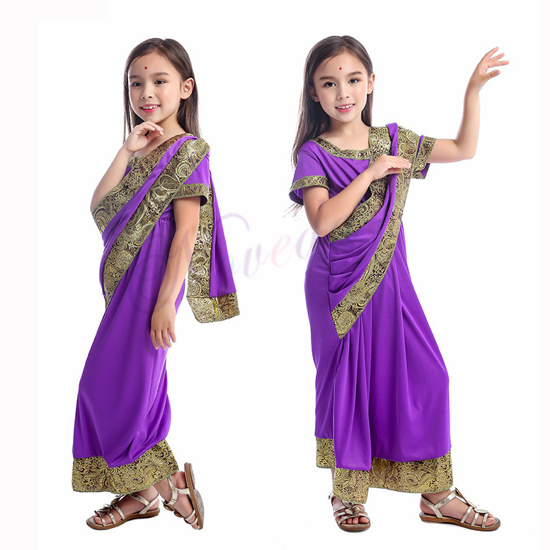 Indian Saree Party <font><b>India</b></font> Sari Dress Bollywood Girls Traditional Indian Clothes For Kids Children image