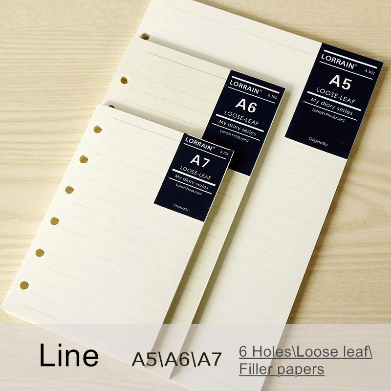 top quality loose leaf notebook refill filofax a5 a6 todo paper ...