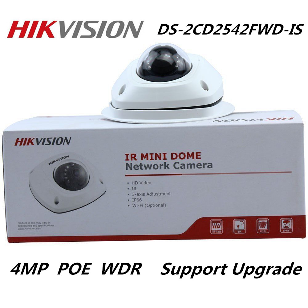 Hikvision international version 4MP DS-2CD2542FWD-IS IP Camera WDR Mini Dome Network Camera Multi-Language Support upgrade fundamentals of physics extended 9th edition international student version with wileyplus set