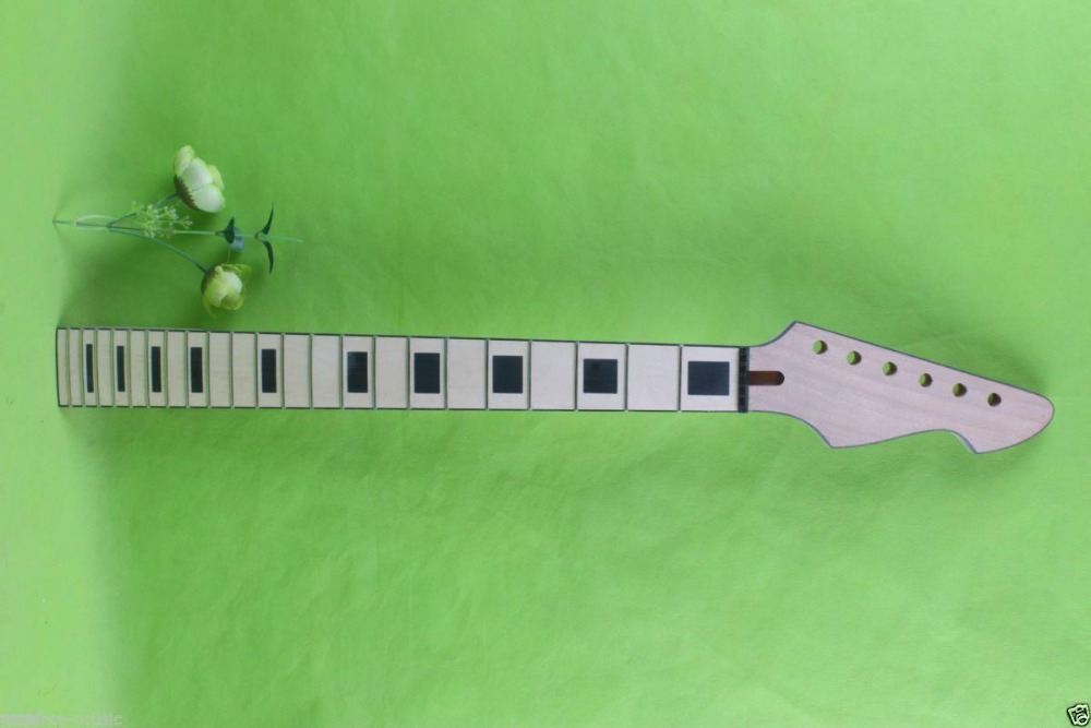 New electric guitar neck maple Fretboard 22 fret 25.5'' nice inlay Binding #1747 one tl electric guitar neck 25 5 inch 22 fret maple made and rosewood fingerboard bindding also have 21 fret