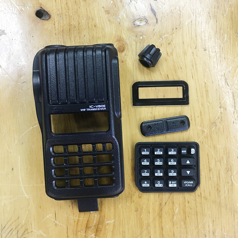 The Houisng Front Case Shell Replacement For ICOM IC-V80E ICV80E Walkie Talkie