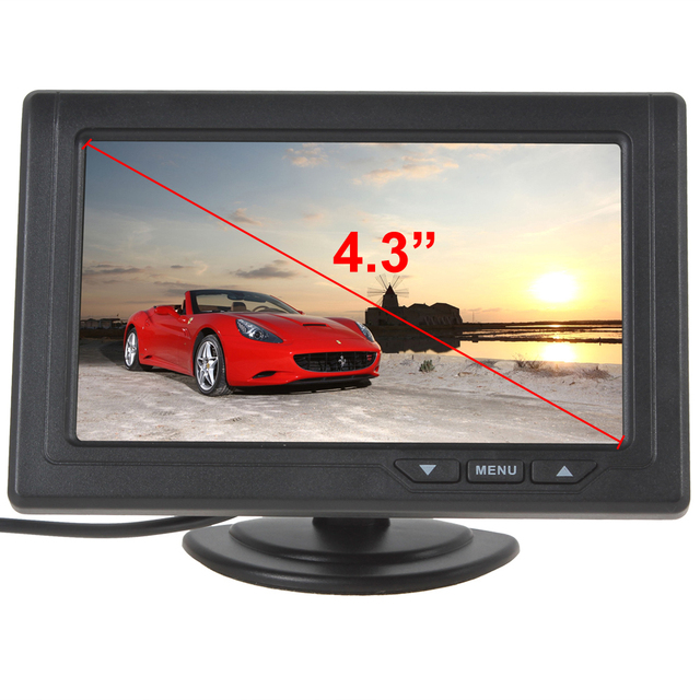 2016 Hot Sale 4.3 Inch 480 x 272 Color TFT LCD Car Rear View Monitors