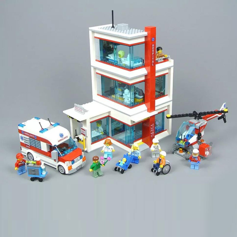 2018 Lepin 02113 964pcs City Hospital Sets Compatible legoINGLY 60204 Building Blocks Brick DIY Model Kits Boy Toy Gift