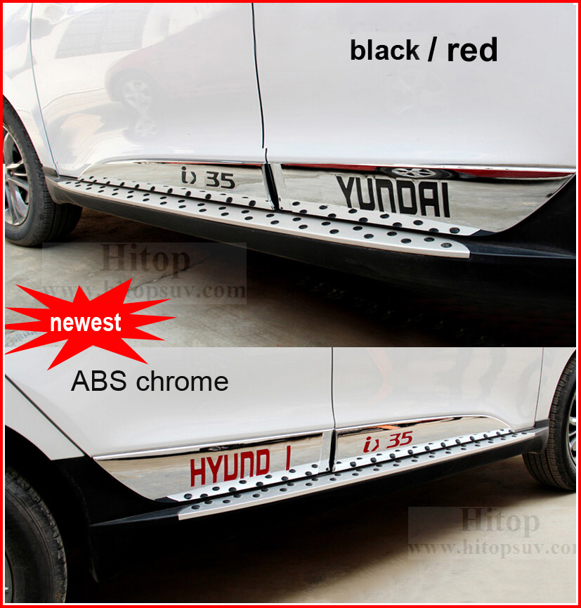 for Hyundai IX35 newest chrome door side molding, body side decoration moulding trim,for 2010-2017 year , 4pcs/set, two colors