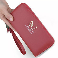 Hot New Women Butterfly Wallets Long Wallet Day Clutch Fashion Womens Purse Female Card Holder