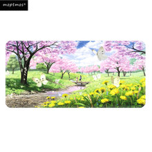 Gaming Mouse Pad Large Speed Mouse Mat Sakura Mouse Pad Non-Slip Mousepad for Laptop & PC 900*400mm недорого
