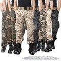 Мужчины брюки 2017 новое прибытие охотник Камуфляж Военная Тактическая брюки армии брюки-карго боевой Поход militar Армии брюки
