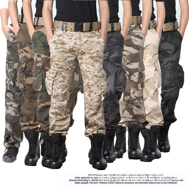 Men pants 2017 new arrival hunter Camouflage Military Tactical pant army cargo pants combat Hike militar Army trousers
