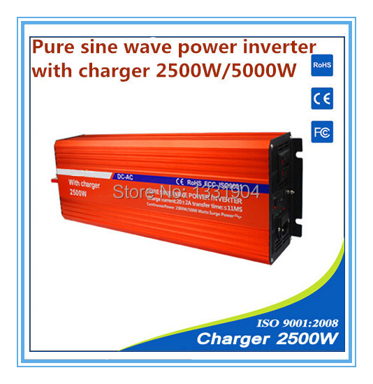 12V to 220V 2500W Pure Sine Wave Power Inverter With Buildin Charger with Automatic Transfer for solar inverter, car inverter irfb3006 to 220