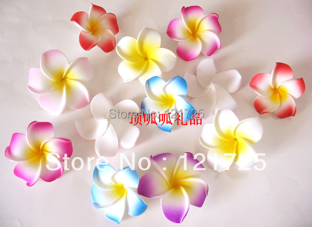 PE frangipani simulation flower diy hair hairpin clip frangipani flower simulation
