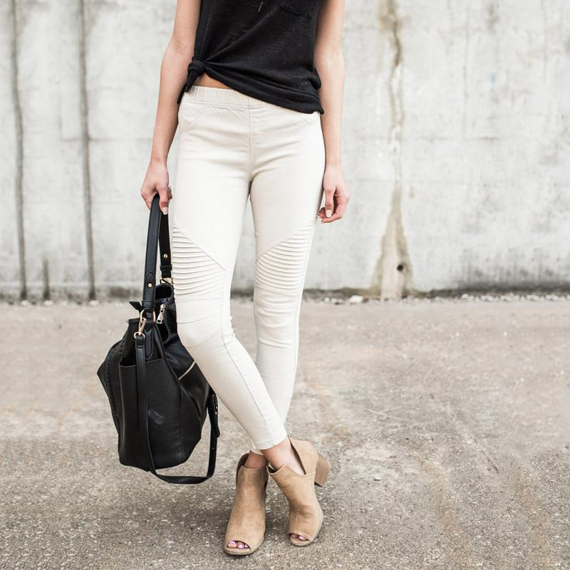 New Design Fashionable Crumpled White Jeans Slim Push Up Stretchy Pencil Pants Skinny Streetwear Casual Denim Jeans Woman