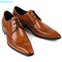 Hot Sale Brand Genuine Leather Business Men Dress Shoes Retro Formal Brogue Shoes Pointed Toe Oxford Shoes For Men 2017 brand genuine leather oxford shoes for men casual men oxford men dress wedding business formal brogue round toe men shoes