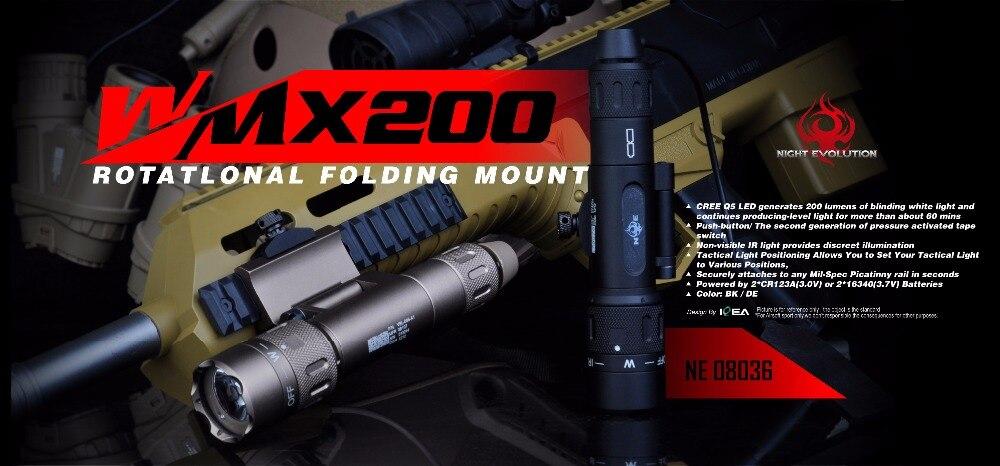 Noite-evolução tático lanterna infravermelha wmx200 vermelho ir