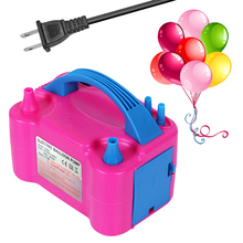 220V 240V Electric High Power Two Nozzle Air Blower Balloon Inflator Pump Fast Portable Inflatable Tool
