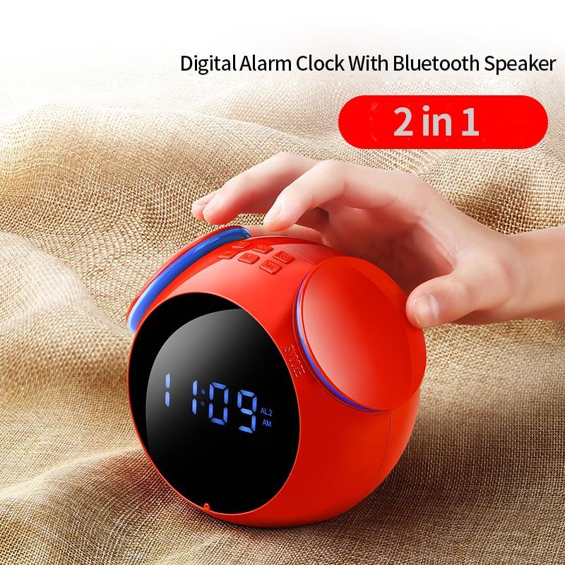 Home & Garden Bluetooth Lautsprecher Mini Digital Wecker Mp3 Intelligentes Audio Subwoofer