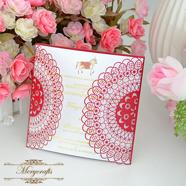 Latest Wedding Card Designs High Quality Handmade 2017 Laser Cut