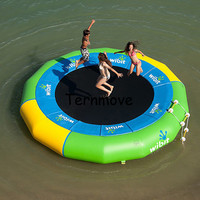 inflatable pvc jumping bed trampoline Gymnastics Trampoline water jumper inflatable bouncer floating water park