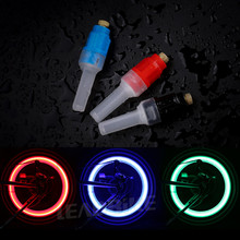 Leadbike 2PCS Bicycle Gas Lamp Tyre Tire Wheel Valve Cap LED Light Bike Accessories Waterproof For Night Riding Decoration