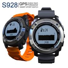 S928 MTK2502 Smartwatch Bluetooth Heart Rate Monitor Podómetro Reloj Inteligente Reloj Teléfono GPS tracker Reloj Para Android Ios Como G01