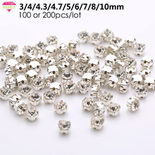 Sell At Loss RESEN Top Quality 3-10mm Sliver Claw Sew On Rhinestones Clear  Crystal 9cfb4e5fd5b5