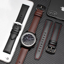 band width 22mm Leather bracelet For Huawei Watch GT smart watch Business style replacement strap 2in1 /Silicone